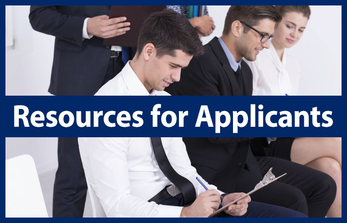 Resources for Applicants